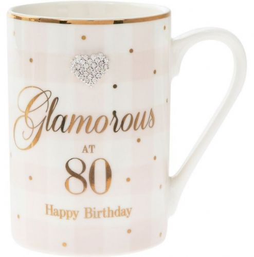 MAD DOTS 80TH BIRTHDAY MUG